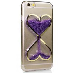 """Violetinis silikoninis dėklas Apple iPhone 6/6s telefonui """"Liquid Heart"""""""