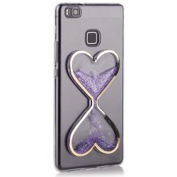 "Violetinis silikoninis dėklas Huawei P9 Lite telefonui ""Liquid Heart"""