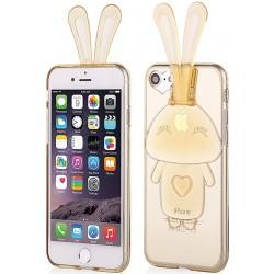 """Auksinės spalvos silikoninis dėklas Apple iPhone 7 telefonui """"Bunny"""""""