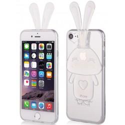 """Skaidrus silikoninis dėklas Apple iPhone 7 telefonui """"Bunny"""""""