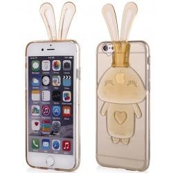 """Auksinės spalvos silikoninis dėklas Apple iPhone 6/6s telefonui """"Bunny"""""""