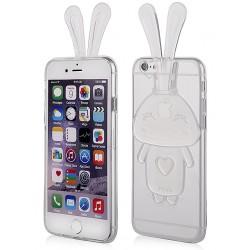 """Skaidrus silikoninis dėklas Apple iPhone 6/6s telefonui """"Bunny"""""""