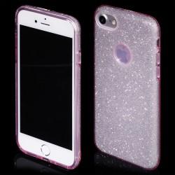 "Rožinis silikoninis blizgantis dėklas Apple iPhone 7 telefonui ""Blink"""