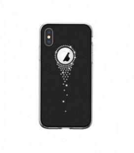Dėklas Devia Angel Tears Apple iPhone X/XS juodas