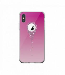 Dėklas Devia Angel Tears Apple iPhone X/XS rožinis