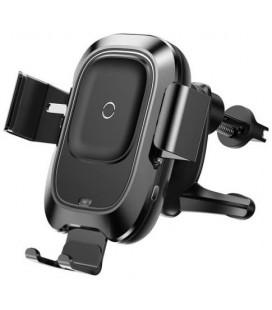 """Juodas automobilinis telefono laikiklis su belaidžio krovimo funkcija """"Baseus Vehicle Vent Car Mount"""""""