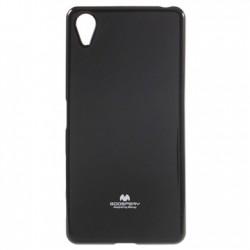 "Juodas silikoninis dėklas Mercury Goospery ""Jelly Case"" Sony Xperia X telefonui"