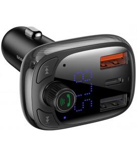 "Juodas automobilinis kroviklis 2xUSB + FM imtuvas ""Baseus S13"""