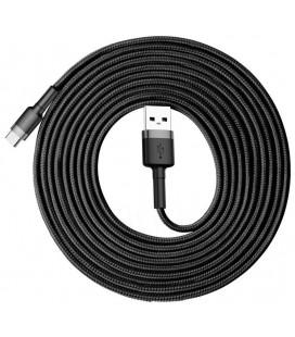 """Juodas/pilkas USB - TypeC laidas 300cm """"Baseus Cafule"""""""