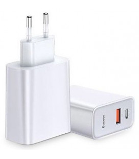 "Baltas USB-C + QC3.0 pakrovėjas ""Baseus Speed PPS"""