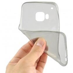 Juodas plonas 0,3mm silikoninis dėklas Sony Xperia X telefonui