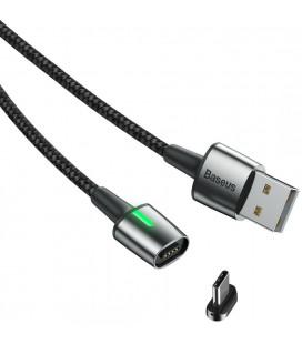 "Juodas magnetinis USB - Type-C laidas 100cm ""Baseus Magnetic"""