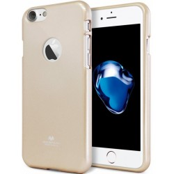 """Auksinės spalvos silikoninis dėklas Mercury Goospery """"Jelly Case"""" Apple iPhone 7 telefonui"""
