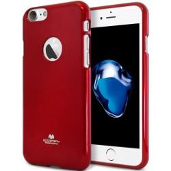 """Raudonas silikoninis dėklas Mercury Goospery """"Jelly Case"""" Apple iPhone 7 telefonui"""