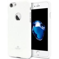 "Baltas silikoninis dėklas Mercury Goospery ""Jelly Case"" Apple iPhone 7 telefonui"
