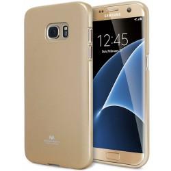 """Auksinės spalvos dėklas Mercury Goospery """"Jelly Case"""" Samsung Galaxy S7 Edge telefonui"""
