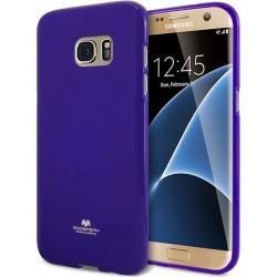 "Mėlynas dėklas Mercury Goospery ""Jelly Case"" Samsung Galaxy S7 Edge telefonui"