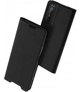"""Juodas atverčiamas dėklas Sony Xperia 1 II telefonui """"Dux Ducis Skin Pro"""""""