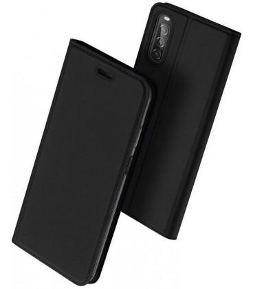 """Juodas atverčiamas dėklas Sony Xperia 10 II telefonui """"Dux Ducis Skin Pro"""""""