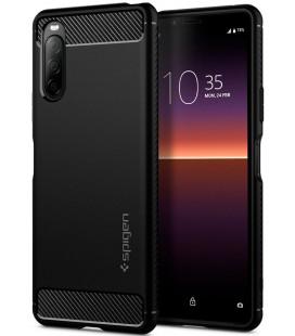"Juodas dėklas Sony Xperia 10 II telefonui ""Spigen Rugged Armor"""