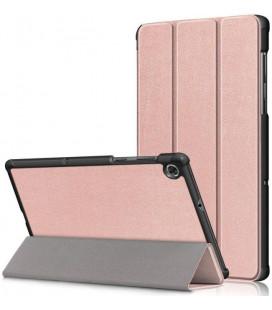 """Rausvai auksinės spalvos atverčiamas dėklas Lenovo Tab M10 Plus 10.3 TB-X606 planšetei """"Tech-Protect Smartcase"""""""
