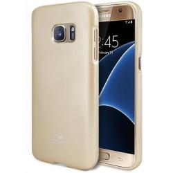 """Auksinės spalvos dėklas Mercury Goospery """"Jelly Case"""" Samsung Galaxy S7 G930 telefonui"""