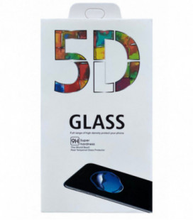 LCD apsauginis stikliukas 5D Full Glue Samsung A405 A40 lenktas juodas