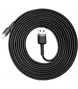"""Juodas/pilkas USB - Lightning laidas 300cm """"Baseus Cafule"""""""