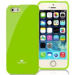 """Žalias dėklas Mercury Goospery """"Jelly Case"""" Apple iPhone 5/5s telefonui"""
