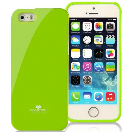 "Žalias dėklas Mercury Goospery ""Jelly Case"" Apple iPhone 5/5s telefonui"