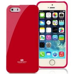 """Raudonas dėklas Mercury Goospery """"Jelly Case"""" Apple iPhone 5/5s/SE telefonui"""