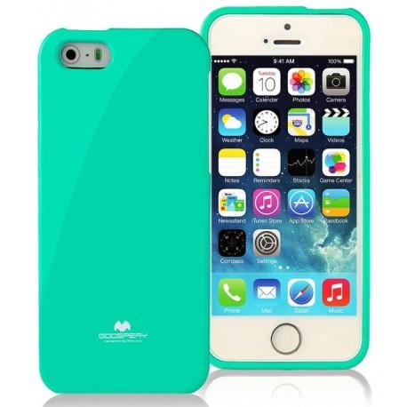 """Mėtos spalvos dėklas Mercury Goospery """"Jelly Case"""" Apple iPhone 5/5s/SE telefonui"""