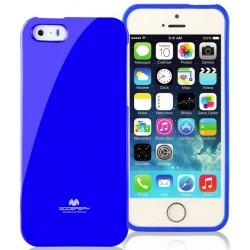 "Mėlynas dėklas Mercury Goospery ""Jelly Case"" Apple iPhone 5/5s/SE telefonui"