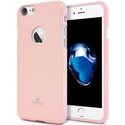 """Šviesiai rožinis silikoninis dėklas Mercury Goospery """"Jelly Case"""" Apple iPhone 7 telefonui"""