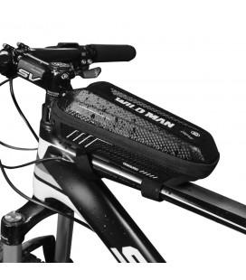 """Juodas universalus telefonų dėklas dviračiams """"Wildman Hardpounch E5S""""'"""