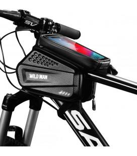 """Juodas universalus telefonų dėklas dviračiams """"Wildman Hardpounch XXL"""""""