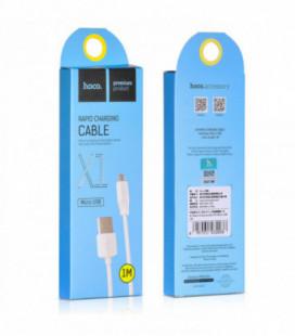 USB kabelis Hoco X1 microUSB 1.0m baltas