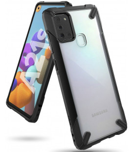 """Juodas dėklas Samsung Galaxy A21S telefonui """"Ringke Fusion X"""""""