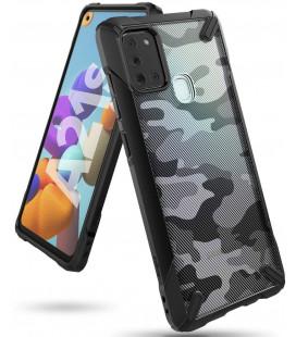 """Juodas (Camo) dėklas Samsung Galaxy A21S telefonui """"Ringke Fusion X"""""""