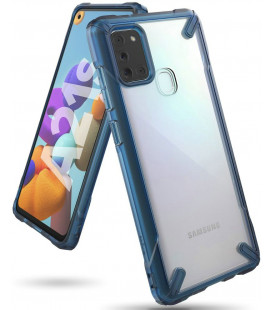 "Mėlynas dėklas Samsung Galaxy A21S telefonui ""Ringke Fusion X"""