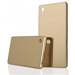 Auksinės spalvos metalinis rėmelis su veidrodiniu dangteliu Sony Xperia Z5 telefonui
