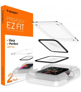 "Ekrano apsauga Apple Watch 4/5/6/SE (44mm) laikrodžiui ""Spigen Proflex EZ Fit"""