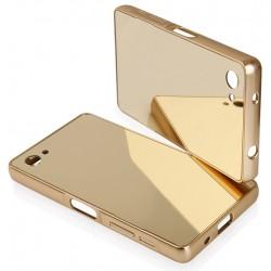 """Auksinės spalvos silikoninis dėklas Samsung Galaxy S6 Edge telefonui """"Mirror"""""""