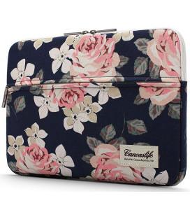 """Universalus krepšys nešiojamiems kompiuteriams 13-14"""" """"Canvaslife Sleeve Navy Rose"""""""