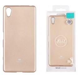 """Auksinės spalvos silikoninis dėklas Mercury Goospery """"Jelly Case"""" Sony Xperia XA telefonui"""