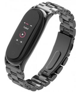 """Juoda apyrankė Xiaomi Mi Smart Band 5 laikrodžiui """"Tech-Protect Stainless"""""""