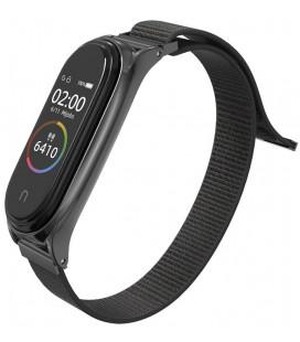 """Juoda apyrankė Xiaomi Mi Smart Band 5 laikrodžiui """"Tech-Protect Nylon"""""""