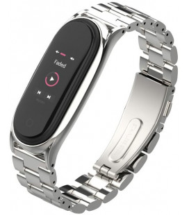 """Sidabrinės spalvos apyrankė Xiaomi Mi Smart Band 5 laikrodžiui """"Tech-Protect Stainless"""""""