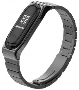 """Juoda apyrankė Xiaomi Mi Smart Band 5 laikrodžiui """"Tech-Protect Steelband"""""""