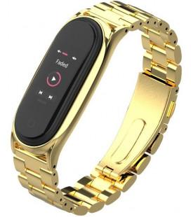 """Auksinės spalvos apyrankė Xiaomi Mi Smart Band 5 laikrodžiui """"Tech-Protect Stainless"""""""